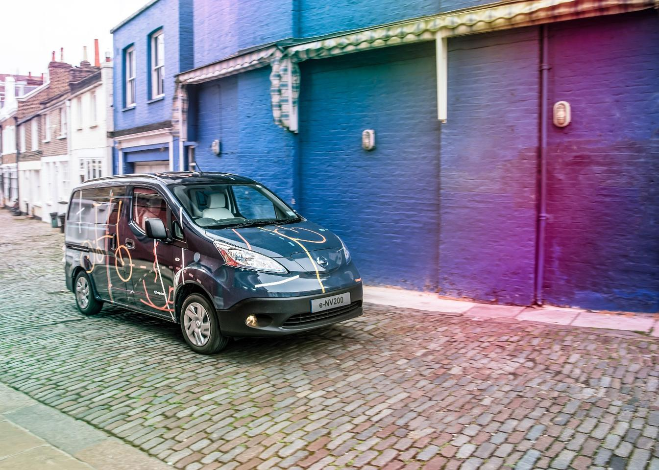 The e-NV200 Workspace looks more like a recreational van outside, but it's all business inside