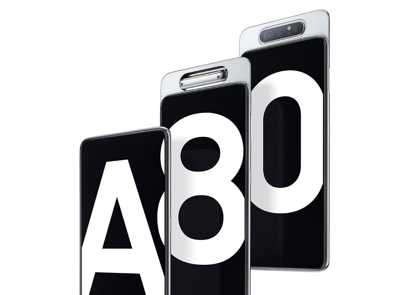 The Samsung Galaxy A80 takes its spot at the top of the new A series