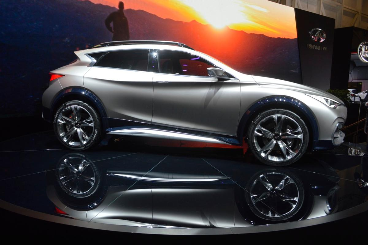 The QX30 Concept points strongly to what Infiniti's production compact SUV will look like (Photo: C.C. Weiss/Gizmag.com)