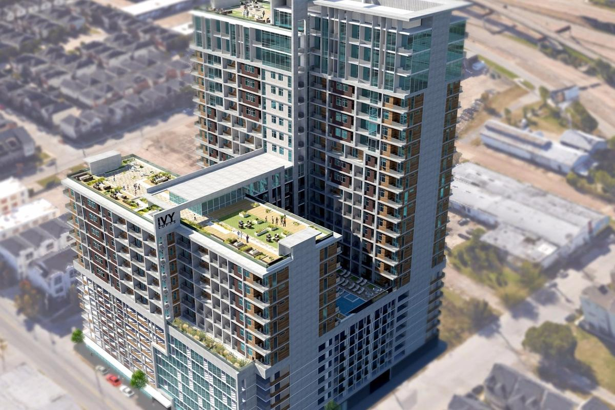 The Ivy Lofts will be located in the East Downtown, or EaDo, neighborhood of Houston