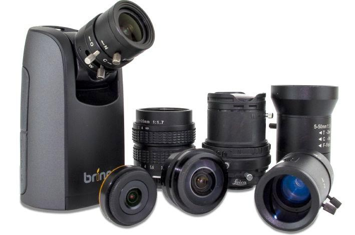 The Brinno TLC200 Pro and its interchangeable lenses