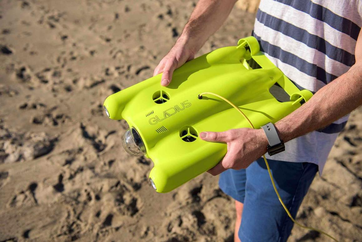The Gladius underwater drone, ready for action