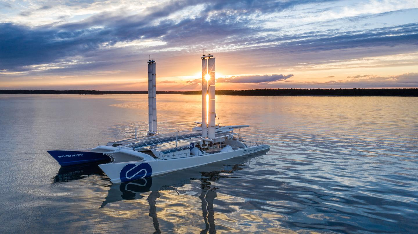The futuristic clean energy floating laboratory launched from France in June, 2017