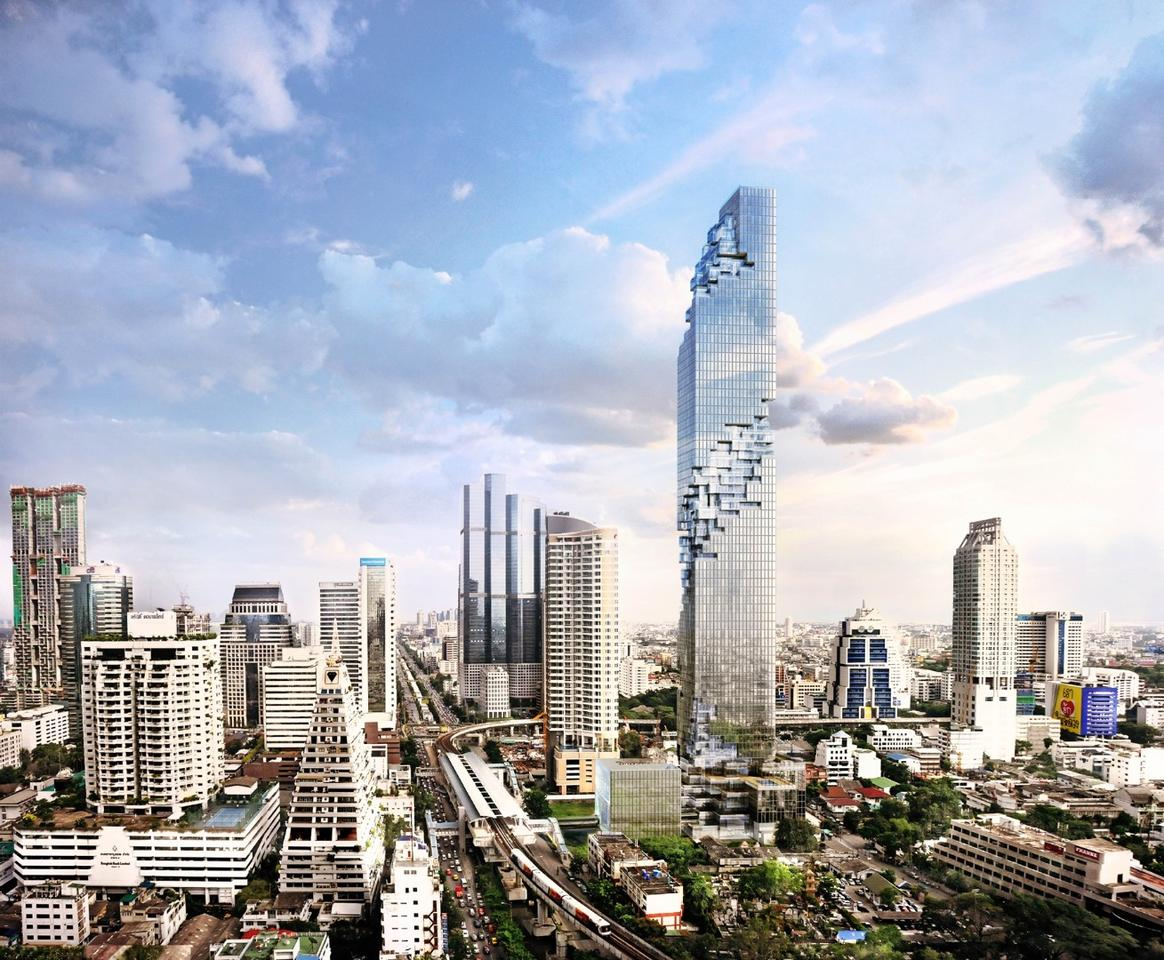 The MahaNakhon is 314-m (1,030-ft) tall