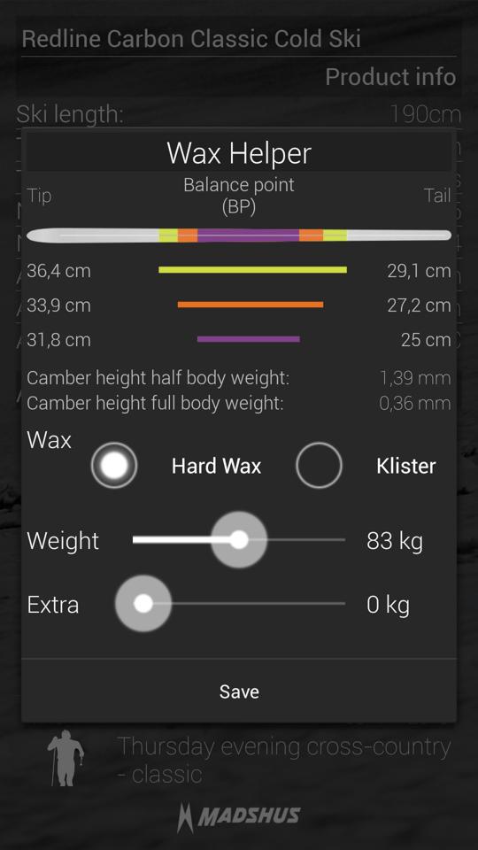 The SmartSki app