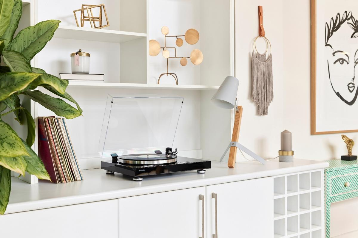 Thanks to its wireless streaming capabilities, the Vinyl 500 turntable doesn't need to sit on top of, or next to, a living room hi-fi setup