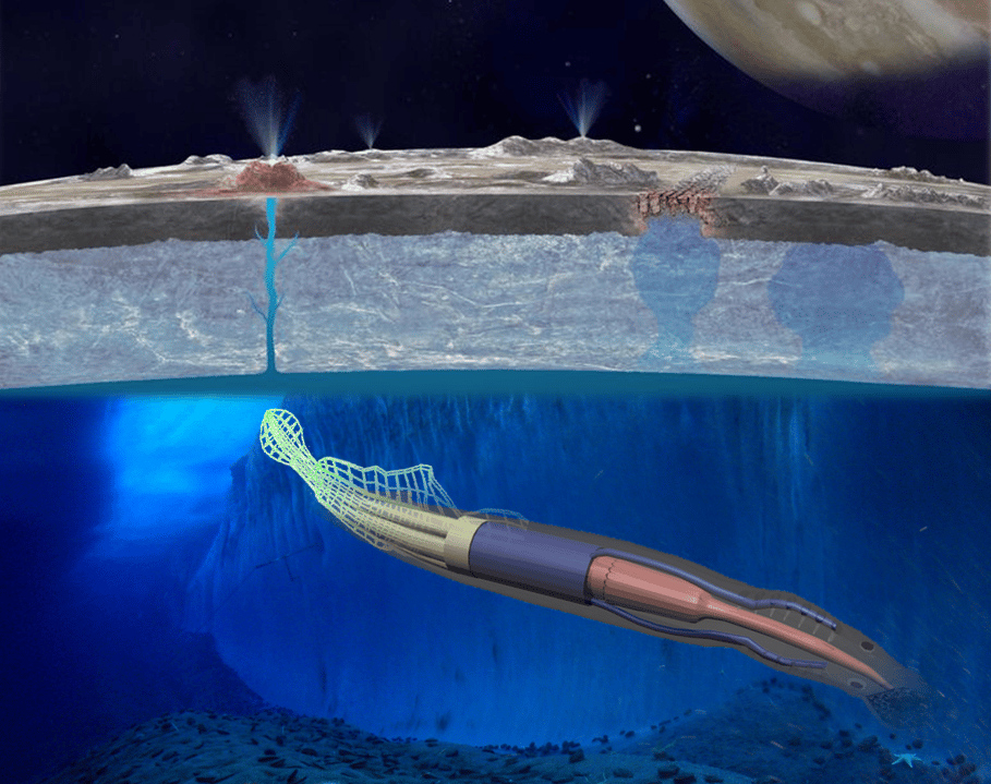 One NIAC concept would see a squid-like rover sent to explore the oceans of Europa