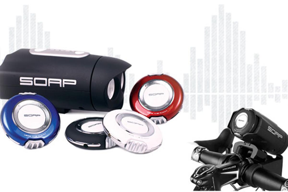 The Soap MP3 player and Sports Bike Audio unit are great accessories for cyclists