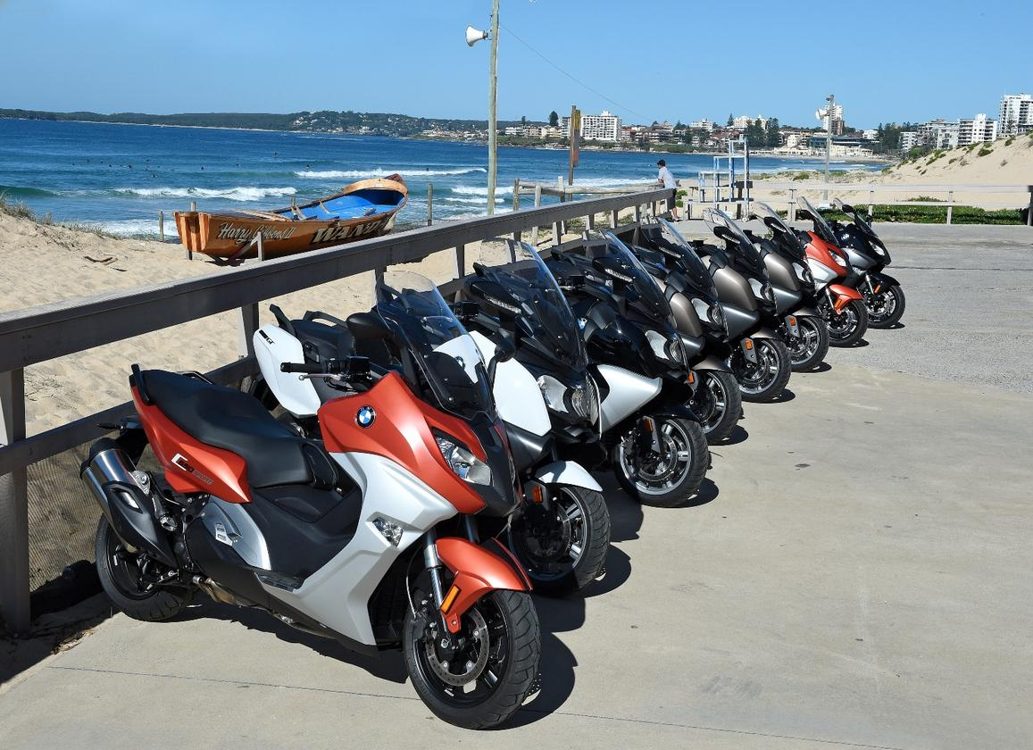 BMW's C650 Sport and GT: lined up for the Australian launch in Sydney