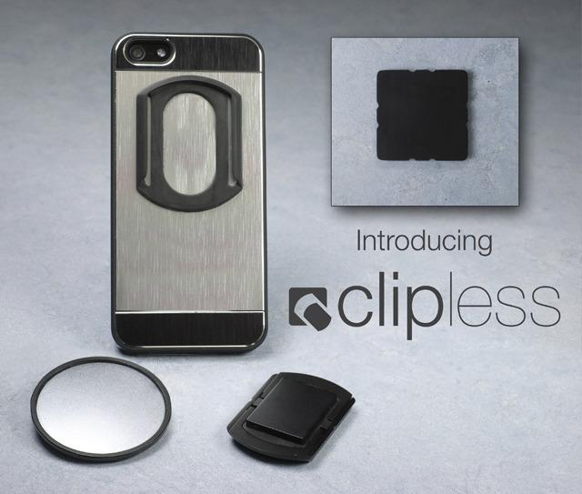 The Clipless system is designed to mount phones to almost anything
