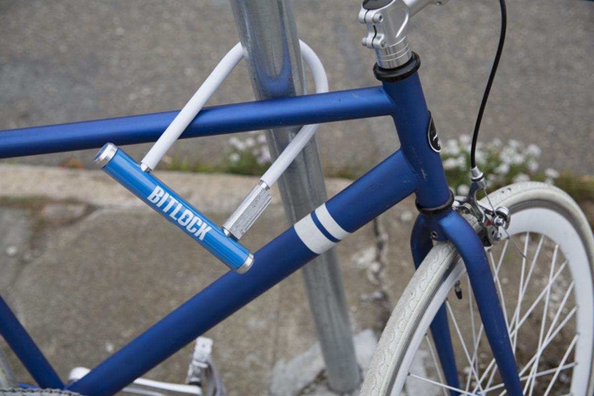 The BitLock is a smartphone-activated bike lock