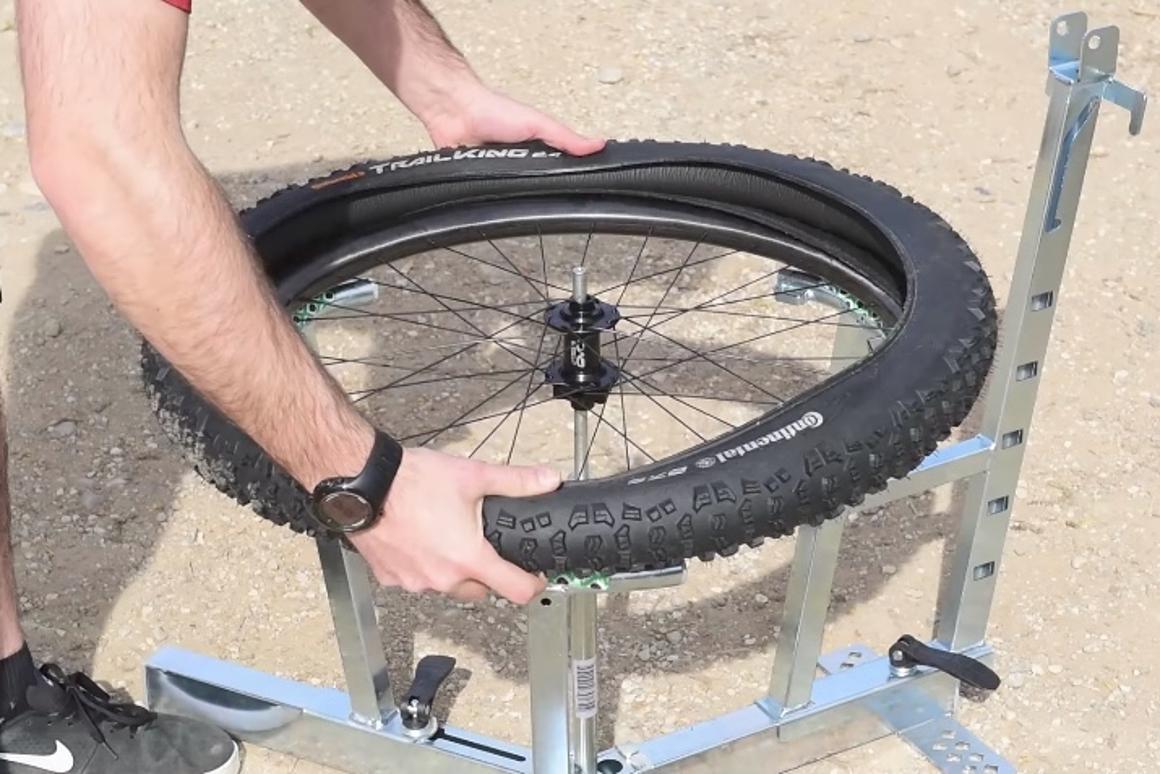 The Banger is installed inside a regular tubeless tire, like an inner tube
