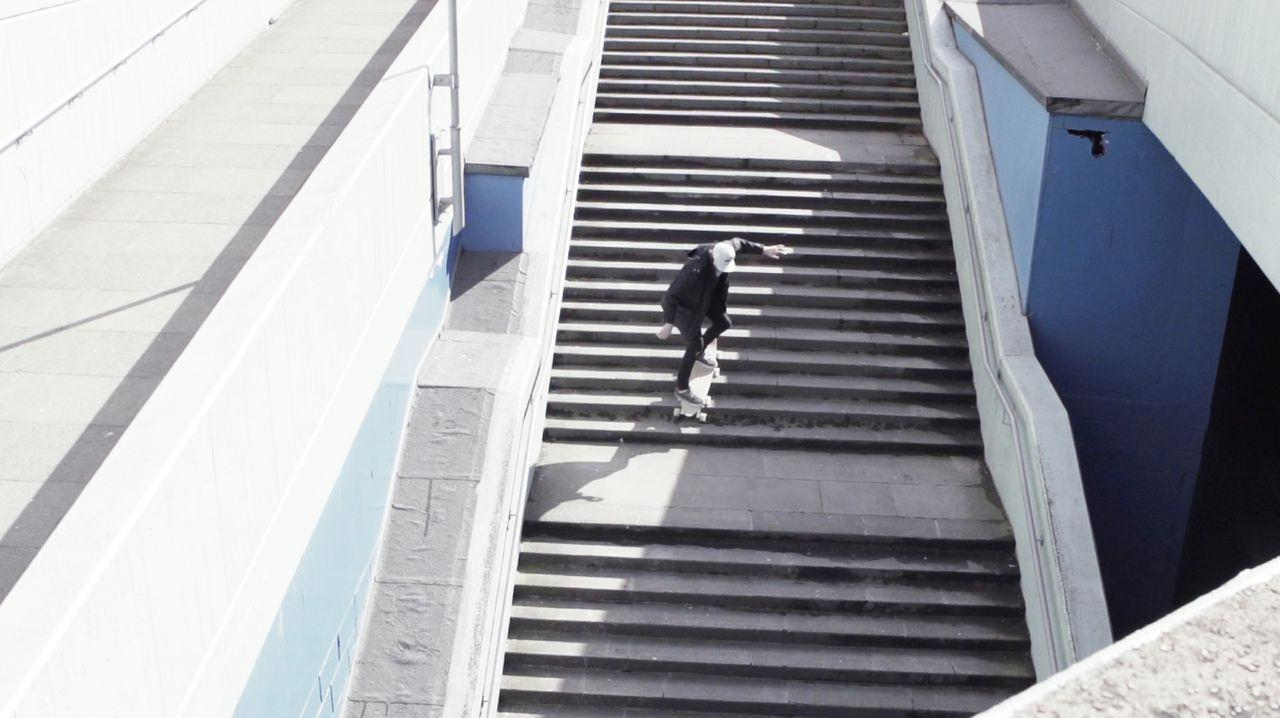 """The Stair-Rover reportedly offers a smooth ride on flat surfaces, but as with the 14 prototypes that preceded it, it's also able to """"scuttle"""" down steps or other uneven terrain"""