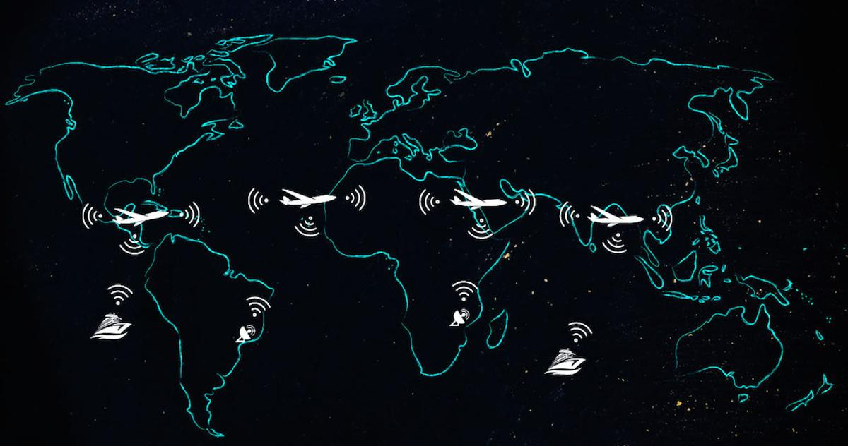 The AIrborne Wireless Network is a proposed system that would use commercial aircraft as nodes in a worldwide meshednetwork, beaming data between each other, ships and ground stations