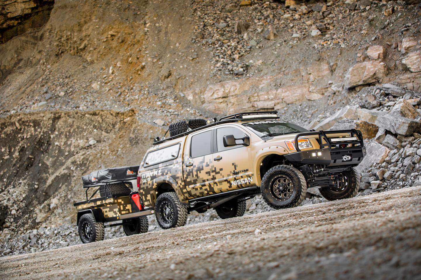 The Nissan Project Titan is ready for a multi-day journey through Alaska