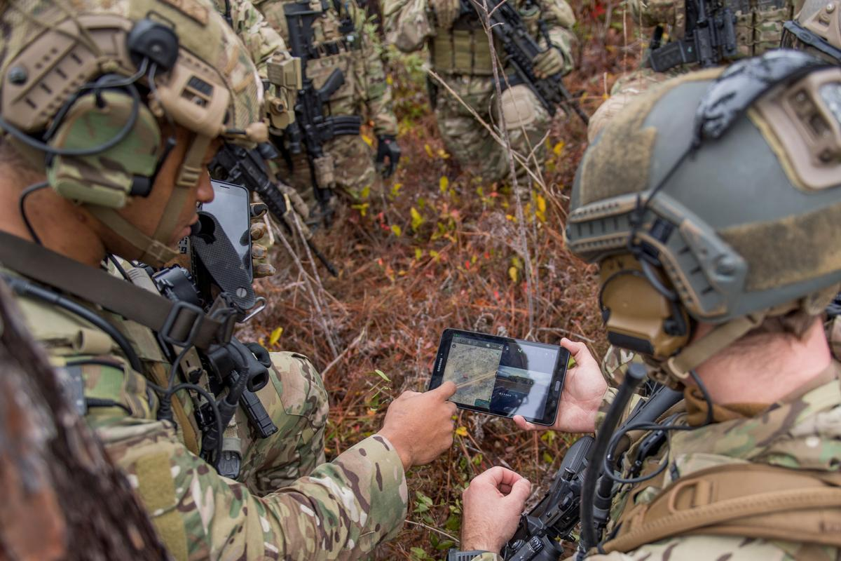 Members of the 6th Special Operations Squadron perform a training exercise showcasing the capabilities of the Advanced Battle Management System at Duke Field, Florida