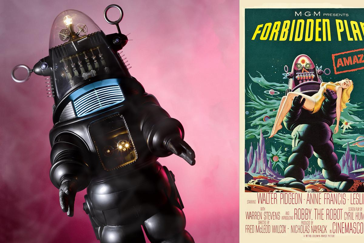 Robby the Robot  first appeared in the 1956 movie Forbidden Planet, but his film and TV appearances number more than 30
