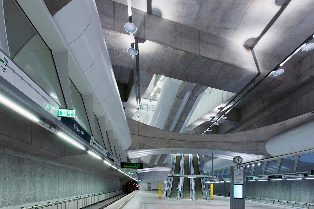 The M4 Metro Line Budapest is one of 20 stunning architecture projects recognized by RIBA's Awards for International Excellence