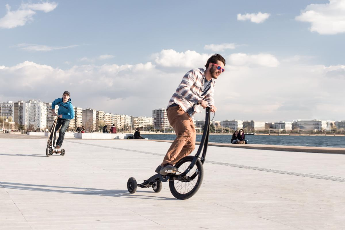 The Halfbike II hits the boardwalk