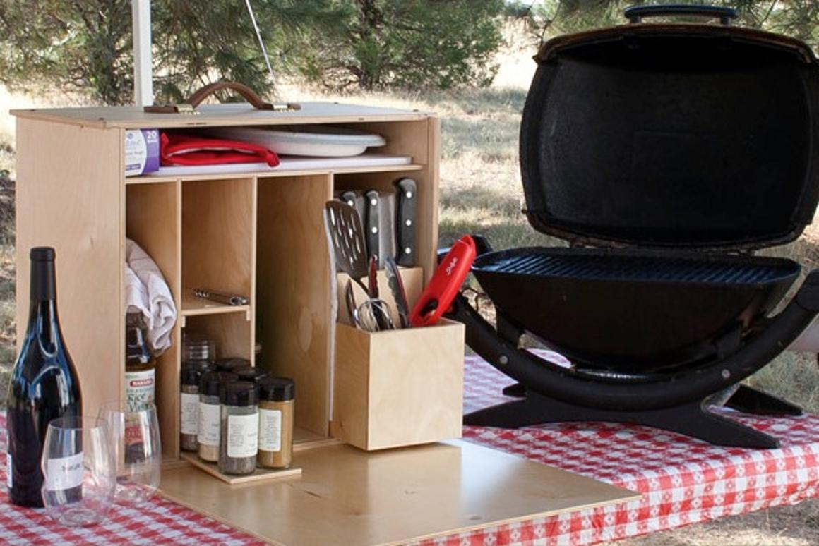 The My Camp Kitchen Mini packs a kitchen's-worth of cooking and serving accessories it into a compact package