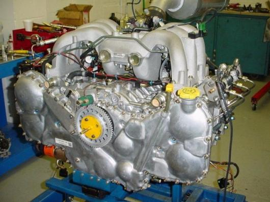 Assembled 6-Cylinder Subaru SCS HFE with Direct Injection Common Rail and Pistons