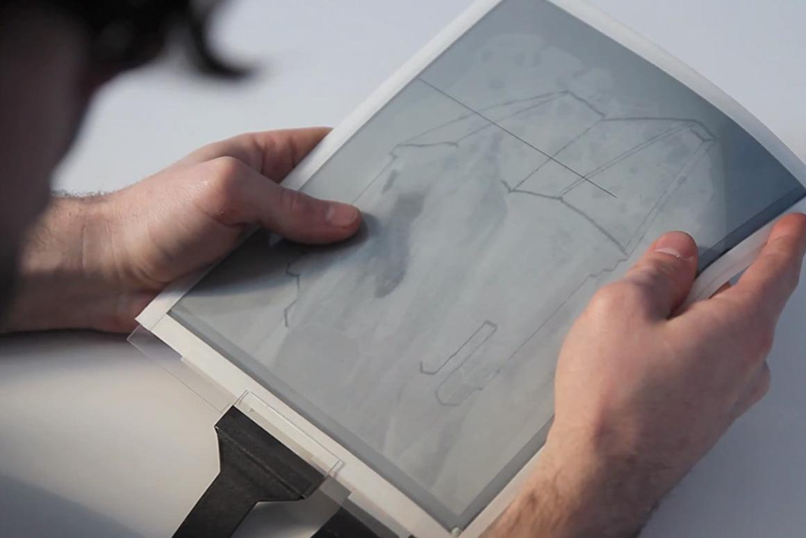 The PaperTab flexible tablet developed at Queen's University