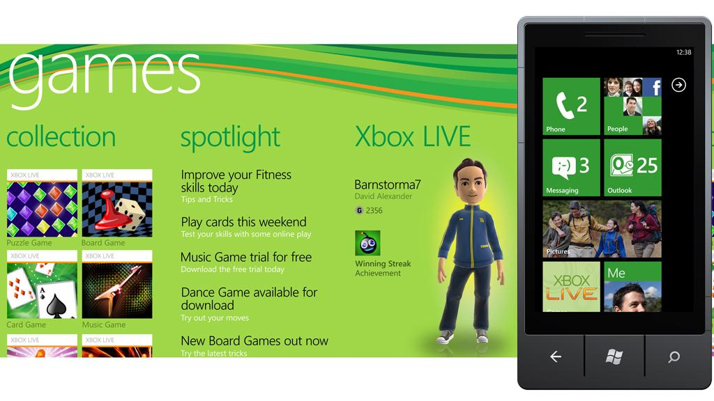 Microsoft has announced the first wave of Xbox LIVE games titles for its Windows Phone 7