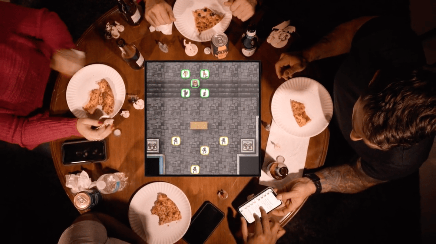 The square aspect ratio is designed to replicate and play traditional board games
