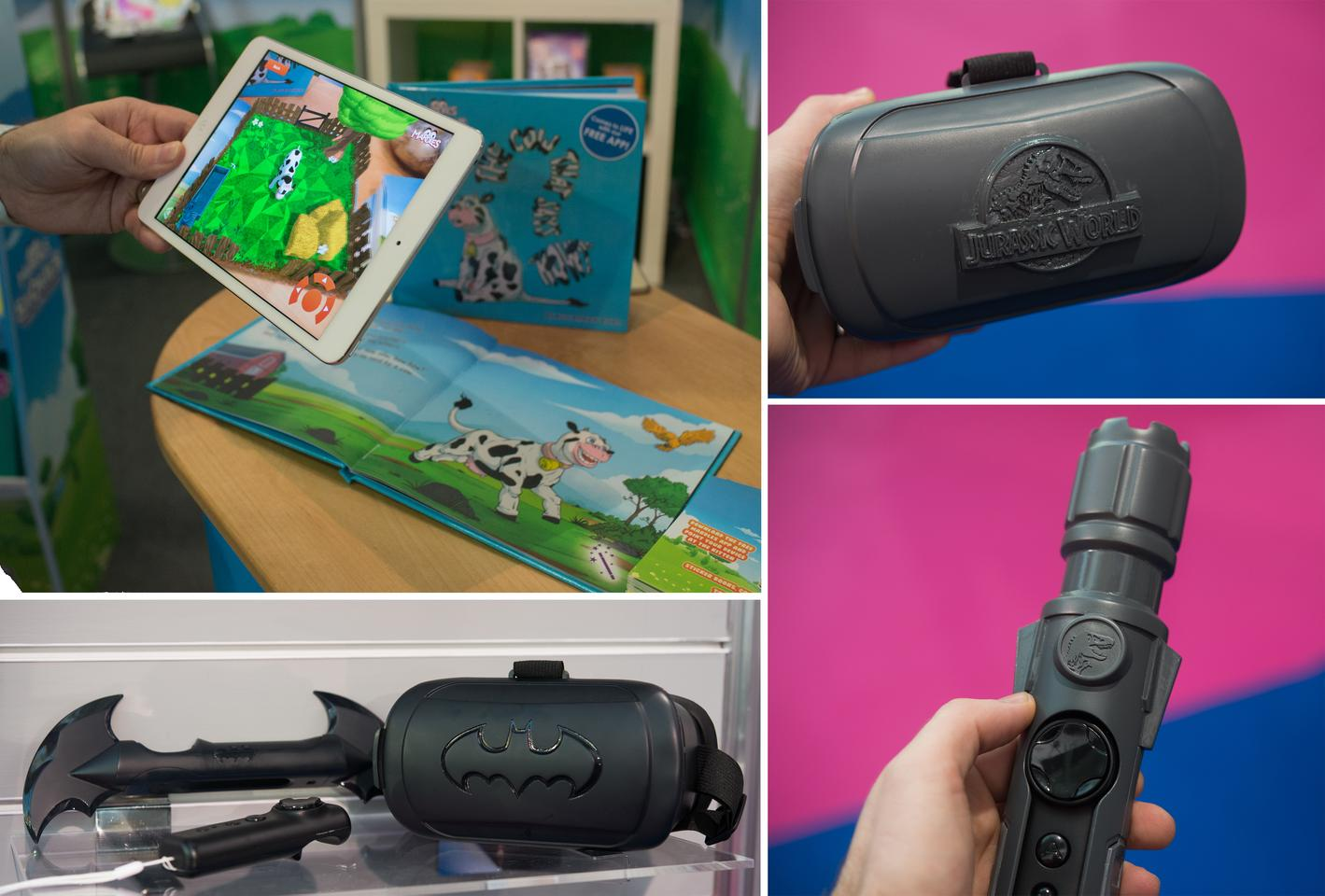 Kids get to try out the latest VR and AR trends with some of the new toys on show at London Toy Fair 2017