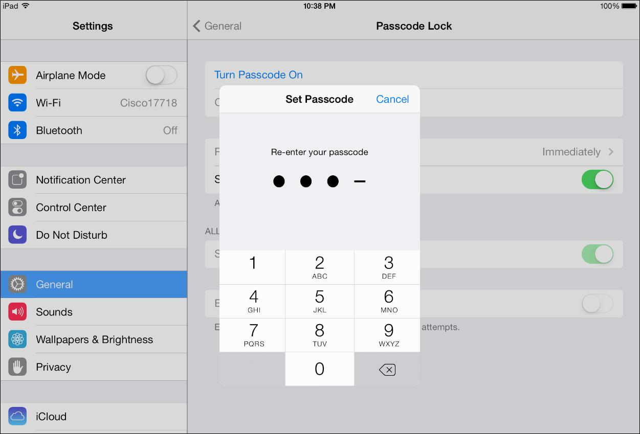 Create a four-digit passcode to secure your iPhone or iPad