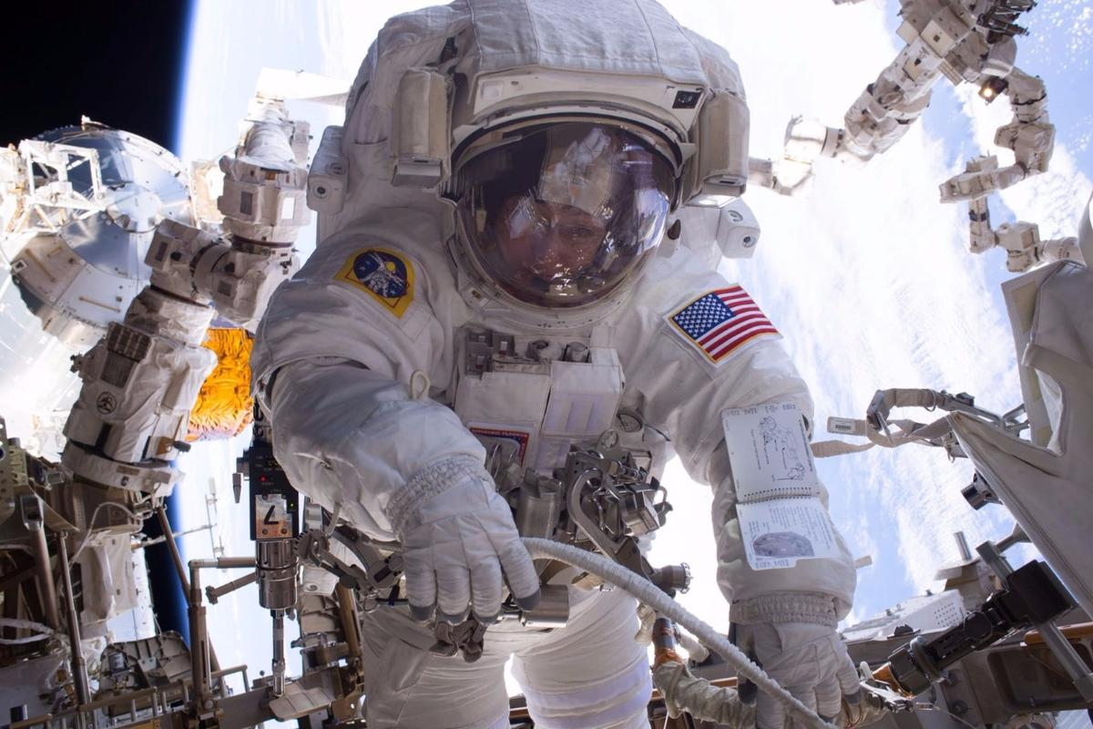 Peggy Whitson, pictured here in an earlier spacewalk, will undertake the repair to fix the broken data box