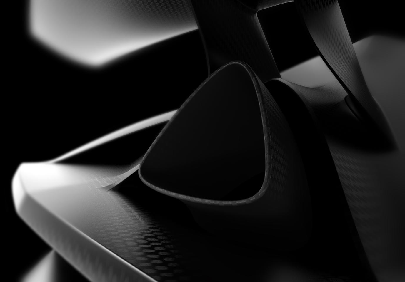 Carbon-fiber abounds on the Lamborghini Sesto Elemento