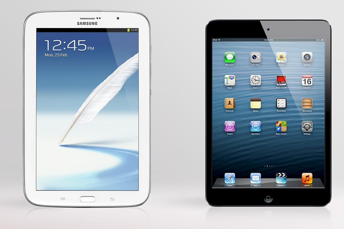 We compare the specs - and other features - of the Samsung Galaxy Note 8.0 and Apple iPad mini