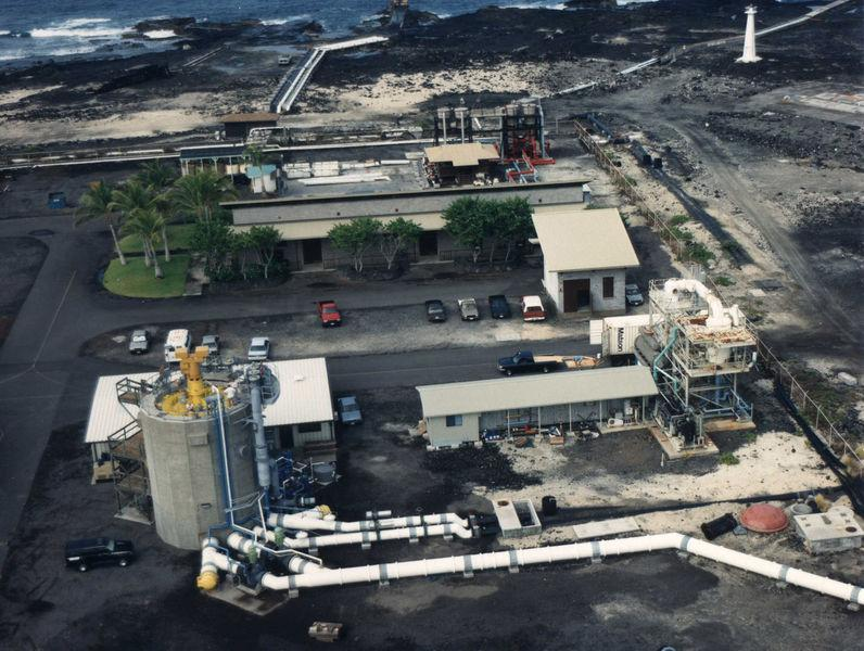 A land based OTEC facility at Keahole Point on the Kona coast of Hawaii