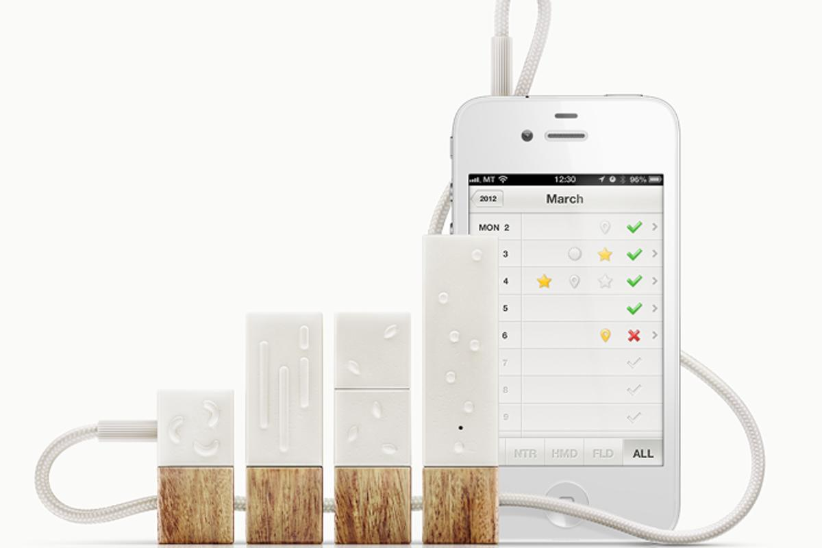 Lapka is sensor that works with an iPhone app to present data on various environmental factors