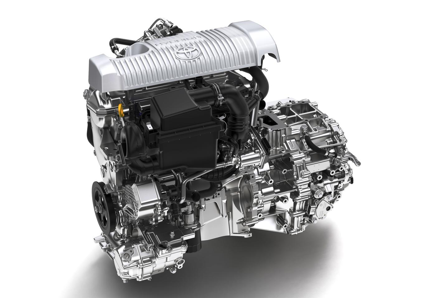 The new bonsai Toyota Hybrid Synergy Drive system for the Yaris
