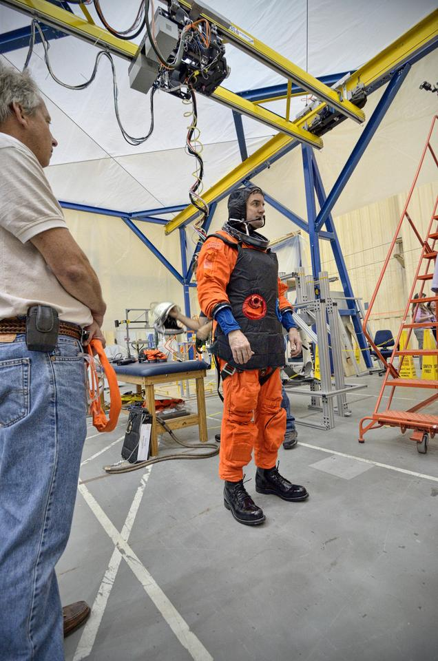 The new suit is being tested to determine what modifications are needed (Image: NASA)