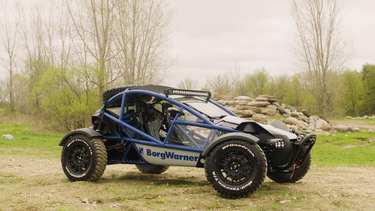 BorgWarner turns the Ariel Nomad into an all-electric development vehicle