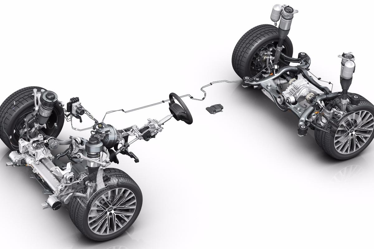 A technical breakdown of the proactive suspension system in the AudiA8