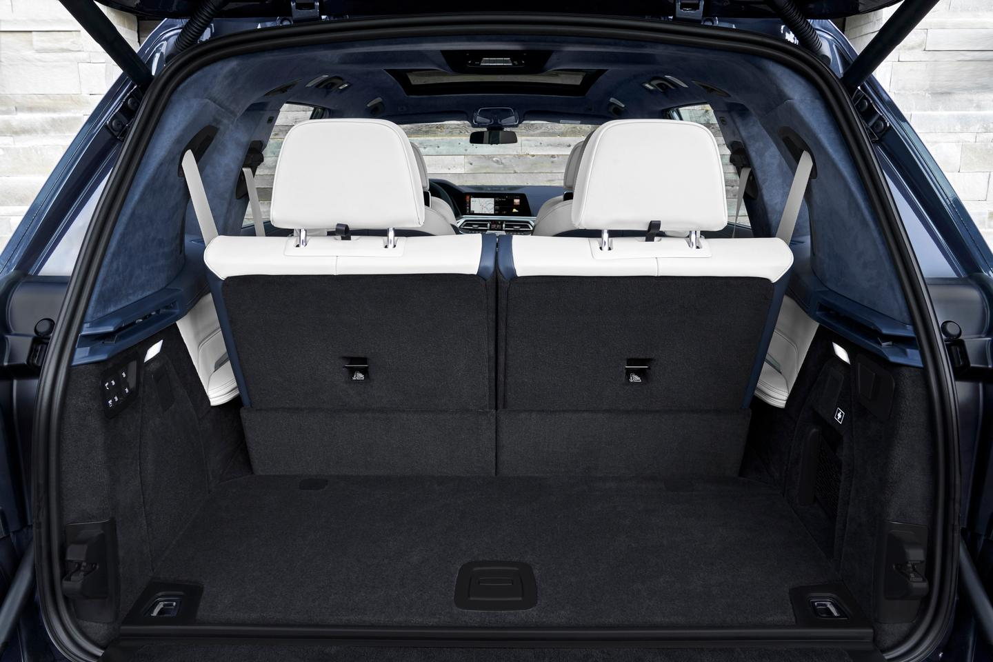 Like most large SUVs, cargo space behind the third row in the BMW X7 is limited, but not ti