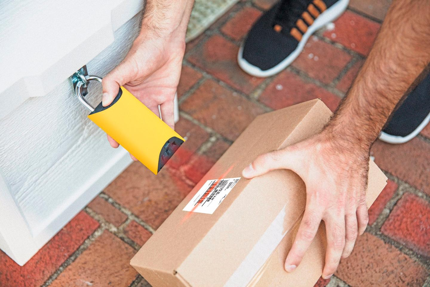 BoxLock Home has a built-in barcode scanner
