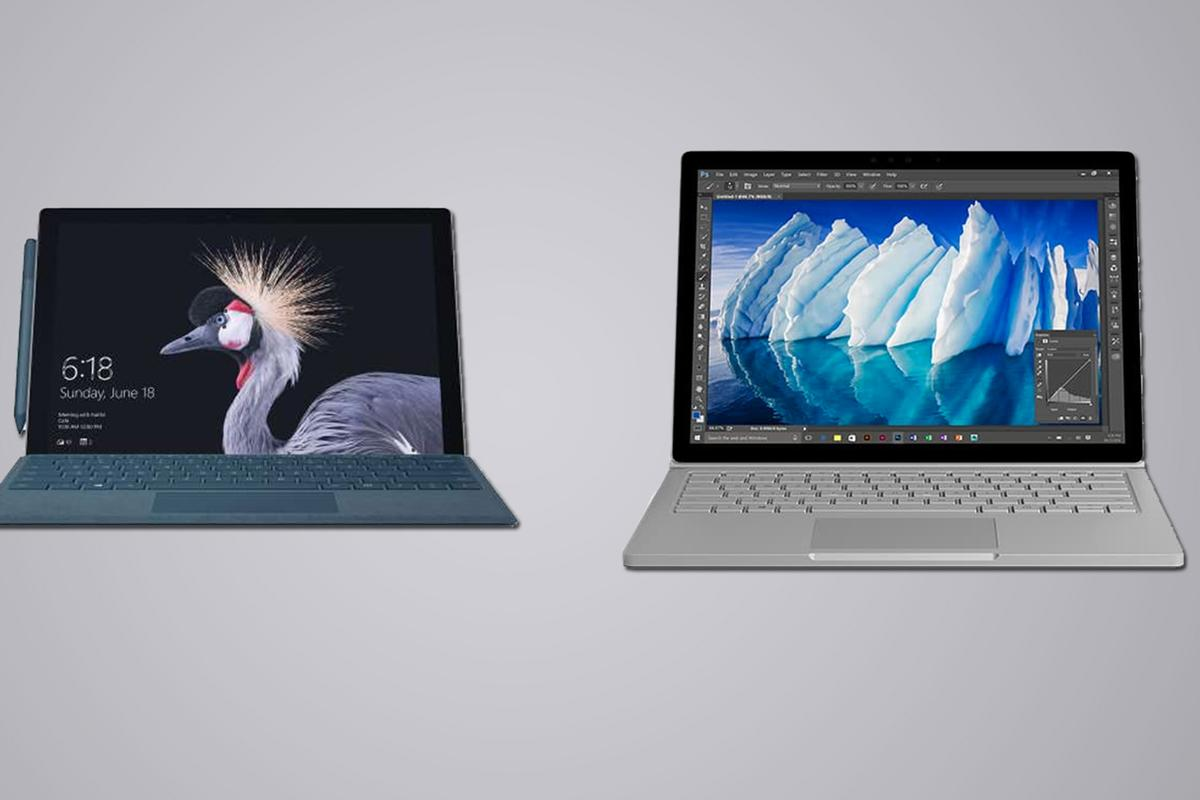 Here's how the newest iteration of the Microsoft Surface Pro compares to its bigger, more expensive counterpart, the Microsoft Surface Book