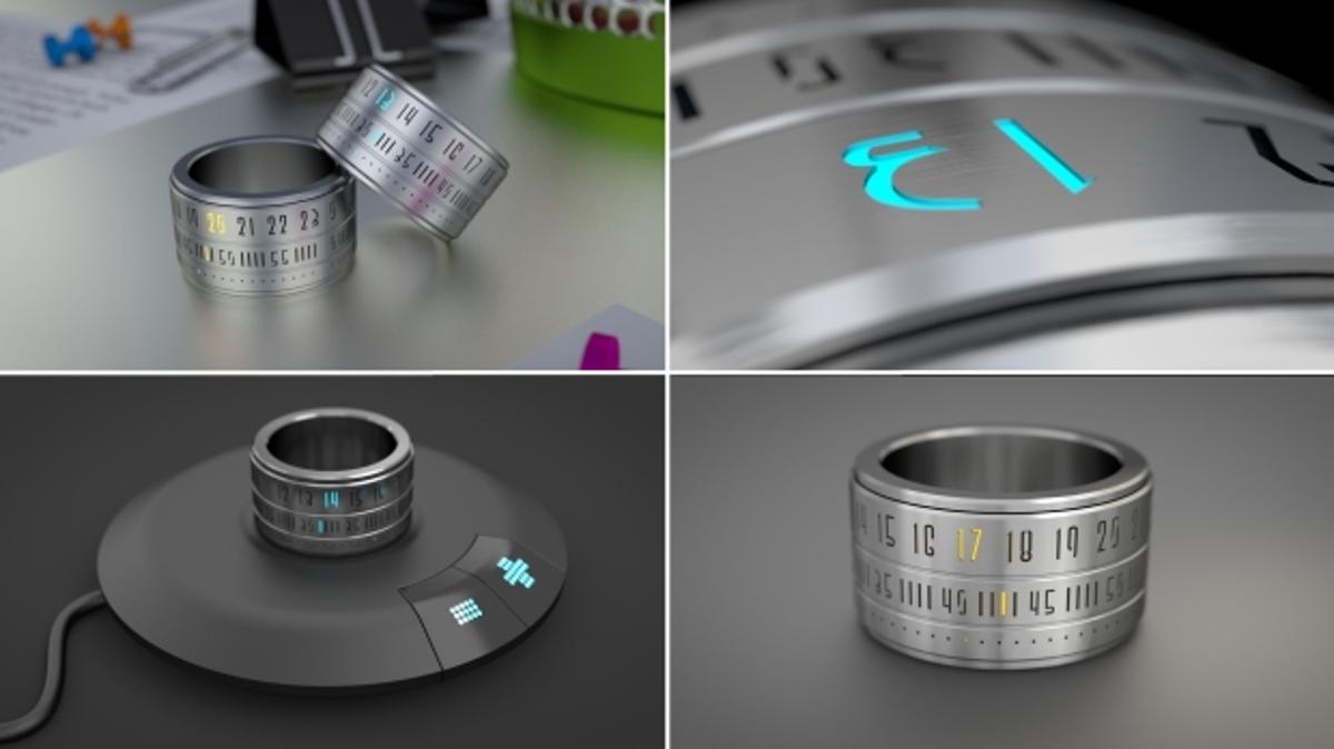 The Ring Clock is a watch that you wear as a ring rather than a bracelet