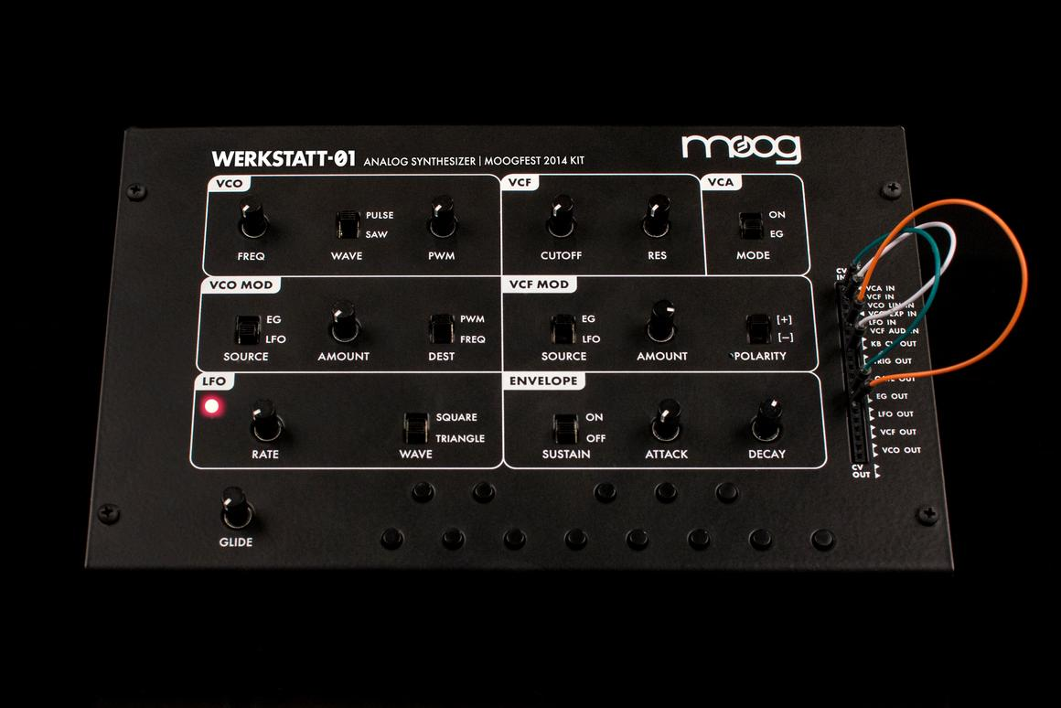 The limited edition Werkstatt-Ø1 Moogfest 2014 Kit from Moog