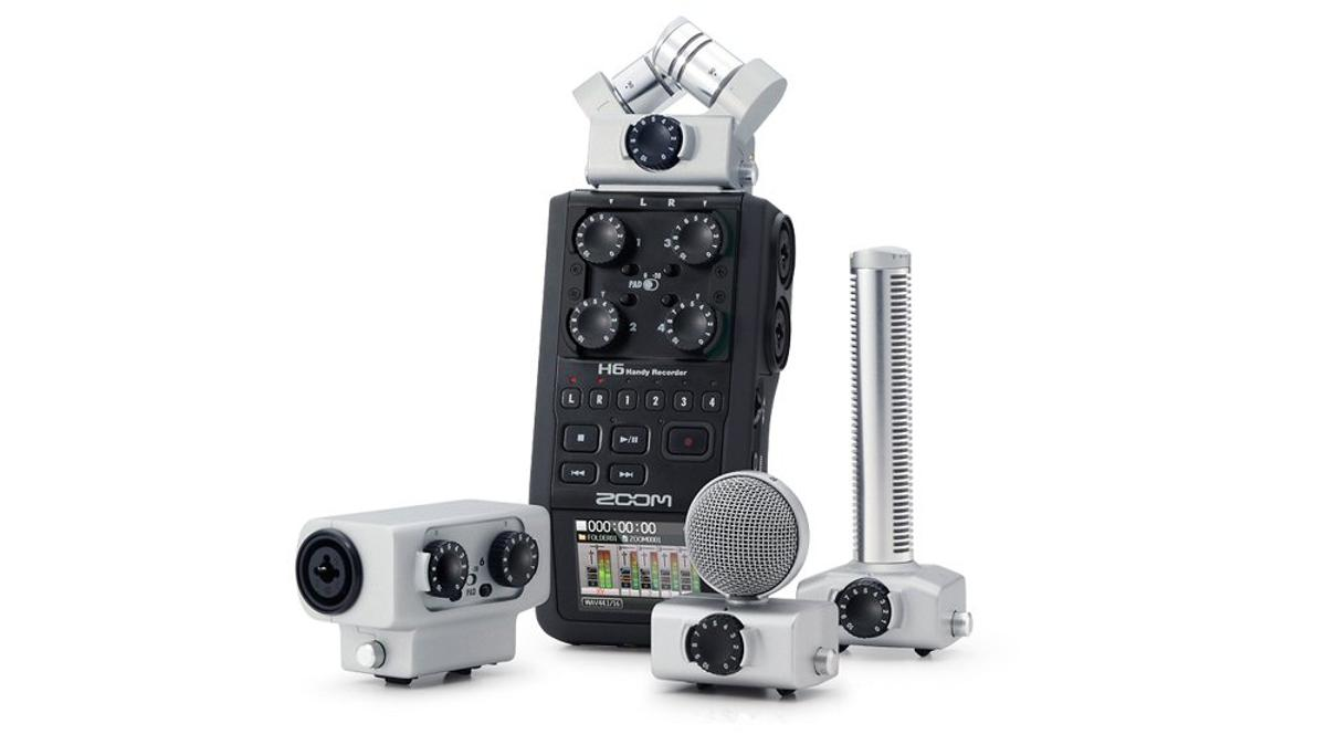 The H6 is claimed to be the world's first portable recorder with interchangeable microphone heads