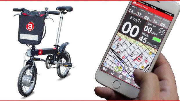 The CMYK 4.0 smart folding e-bike communicates sensor data to the mobile app
