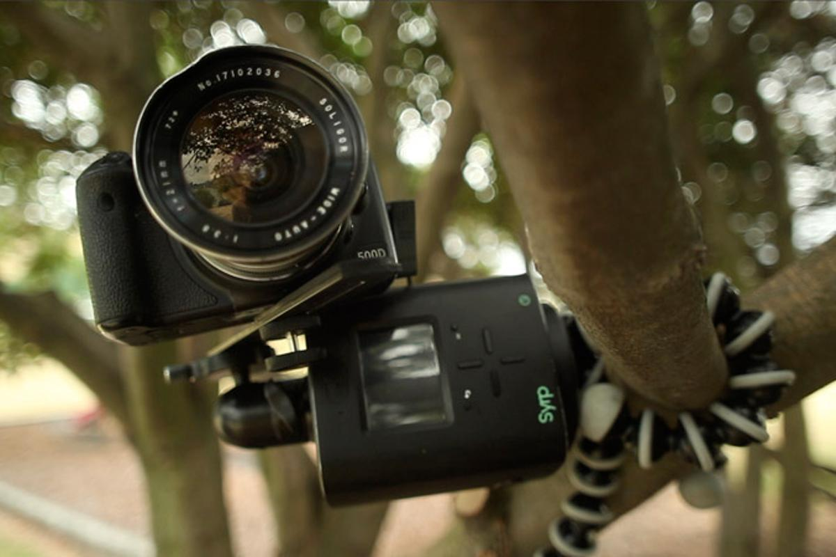 Essentially a middle-man between a tripod and camera, the Genie will pan and tilt the camera according to user instruction to achieve fluid panning shots