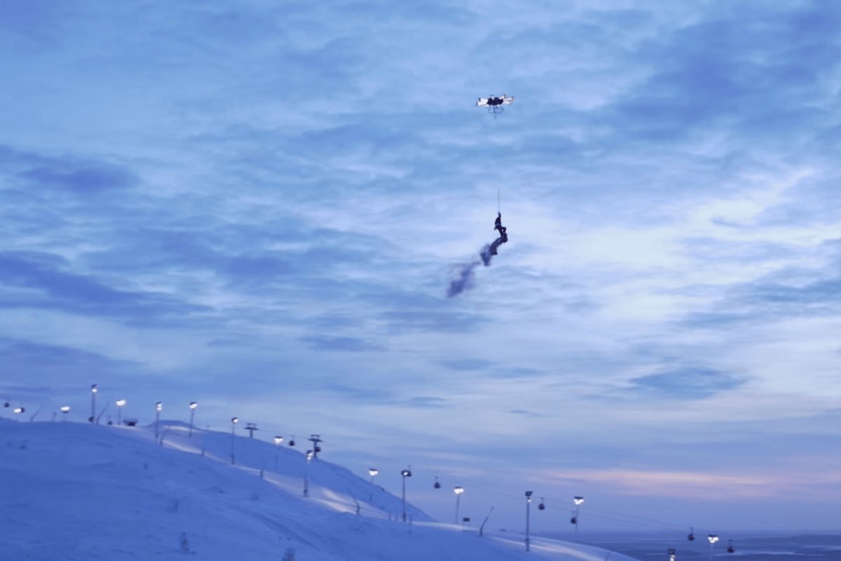 Who needs reindeer when you have a drone?