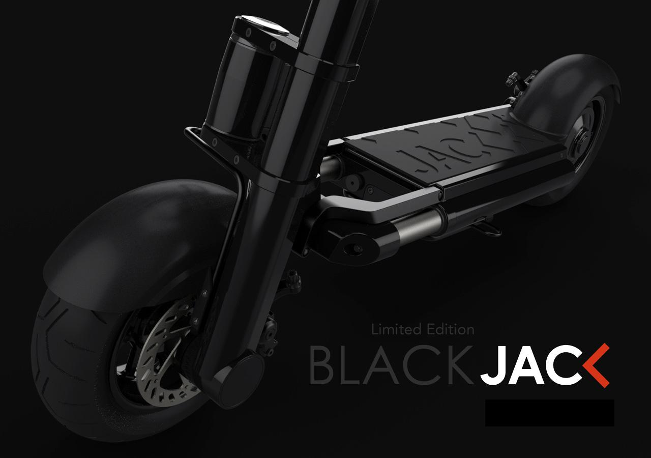 A limited edition BLACK JAC< version in matte black finish with the supporter's name engraved is also available