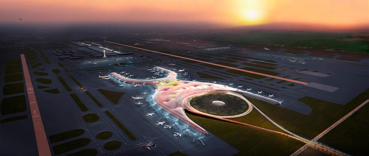 Foster + Partners has designed the new Mexico City aiport, which it says will be one of the biggest and the most sustainable in the world